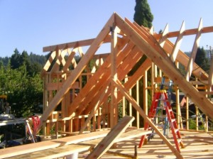 Image of new home construction McKinleyville ca